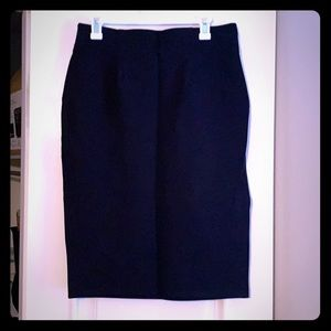 Halogen pencil skirt black size Medium M Nordstrom